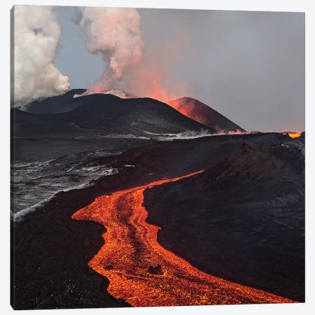 Eruption Of Tolbachik Volcano, Kamchatka, Russia Canvas Print #SGY2} by Sergey Gorshkov Art Print