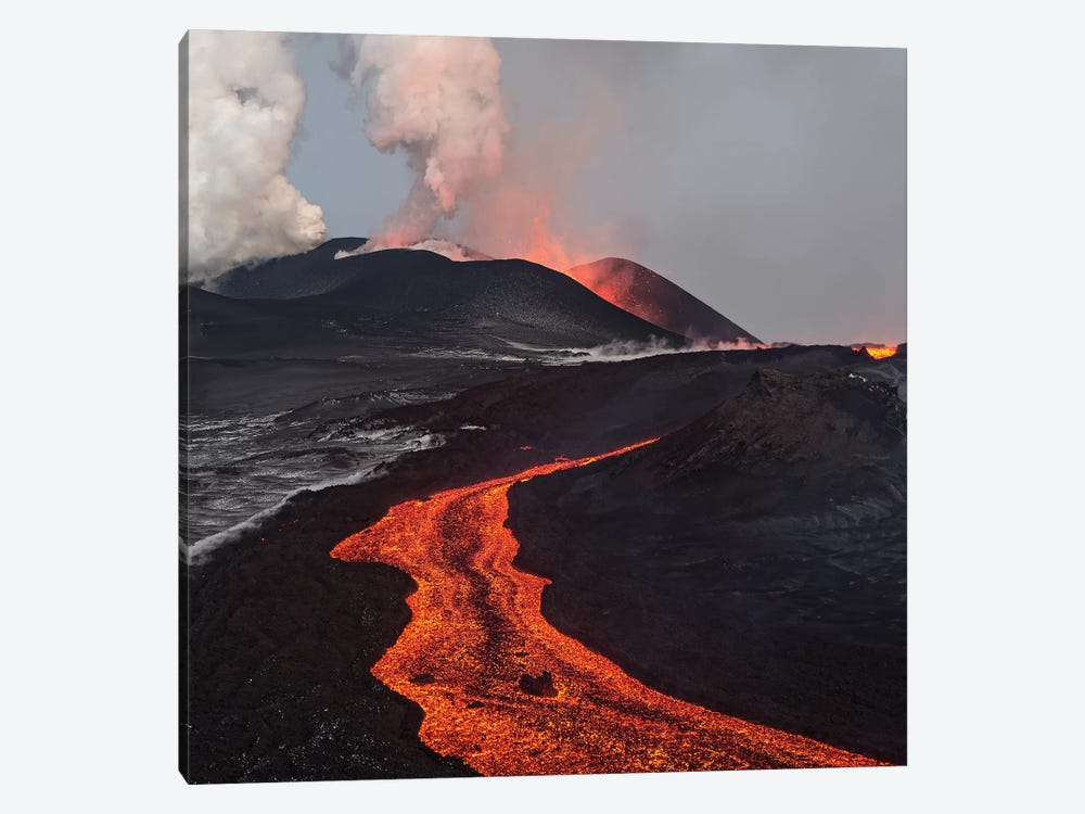 Eruption Of Tolbachik Volcano, Kamchatka, Russia by Sergey Gorshkov 1-piece Art Print