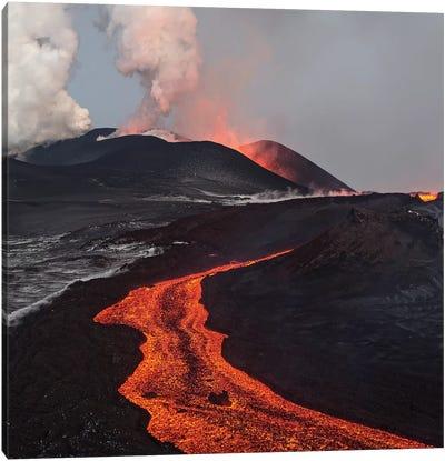 Eruption Of Tolbachik Volcano, Kamchatka, Russia Canvas Art Print