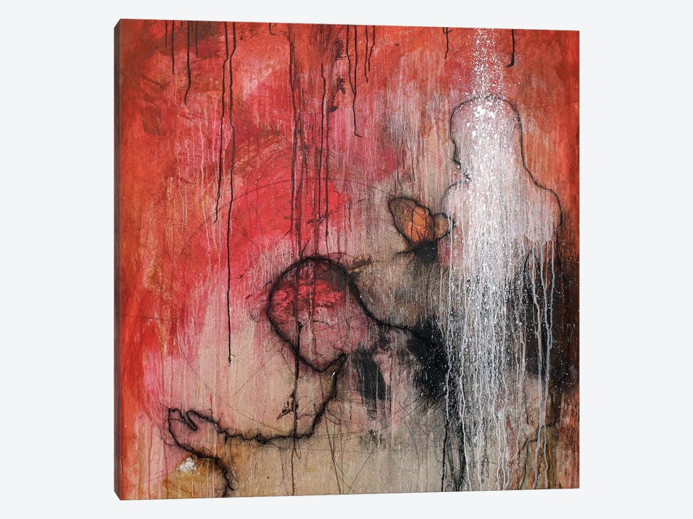 Meditation in Red by Sergio Gomez 1-piece Canvas Art