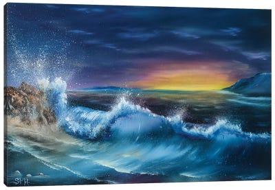 Evening Wave Canvas Art Print