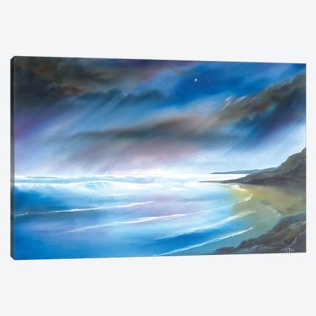 First Star At Whitsand Bay Canvas Print #SHC11} by Simon Hackney Canvas Wall Art