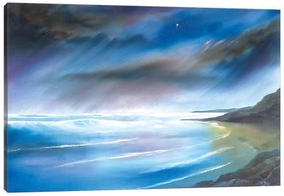 First Star At Whitsand Bay Canvas Art Print