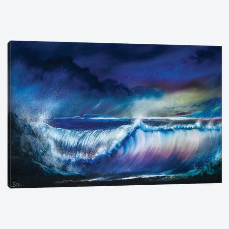 The Emotion Of The Ocean Canvas Print #SHC23} by Simon Hackney Art Print