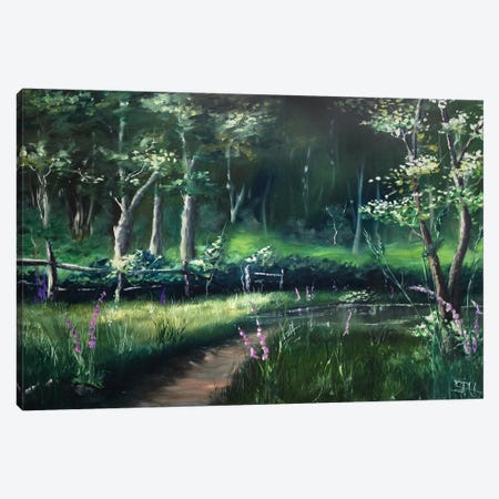 Toward the Station Pond Canvas Print #SHC39} by Simon Hackney Canvas Wall Art