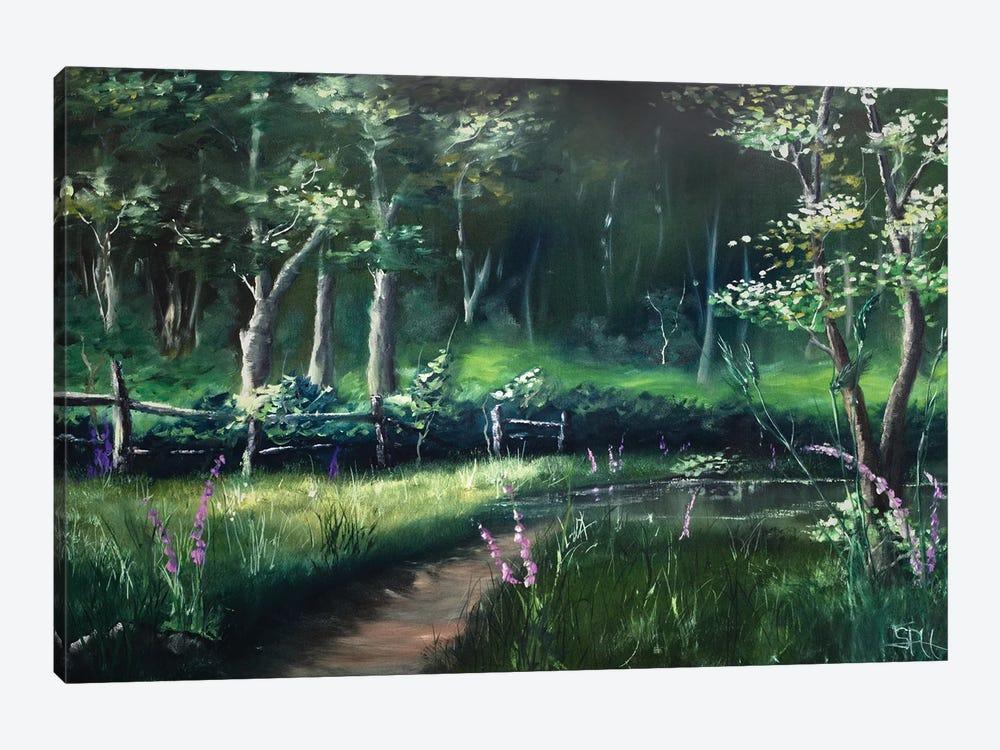 Toward the Station Pond by Simon Hackney 1-piece Art Print