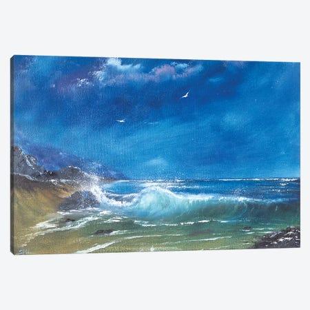 Breaker Canvas Print #SHC6} by Simon Hackney Canvas Wall Art