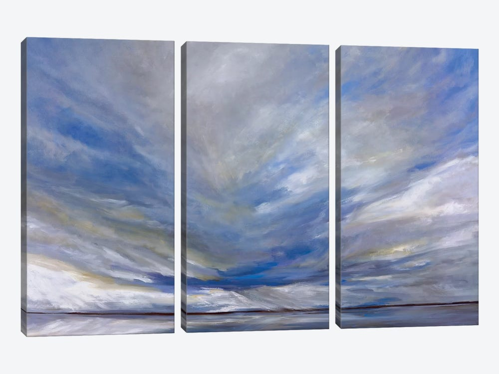 South Bay Storm by Sheila Finch 3-piece Canvas Art