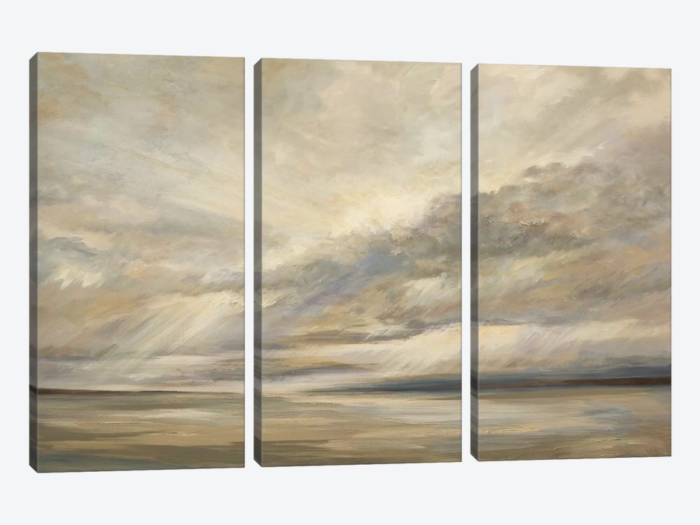Storm On The Bay by Sheila Finch 3-piece Art Print