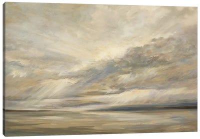 Storm On The Bay Canvas Art Print