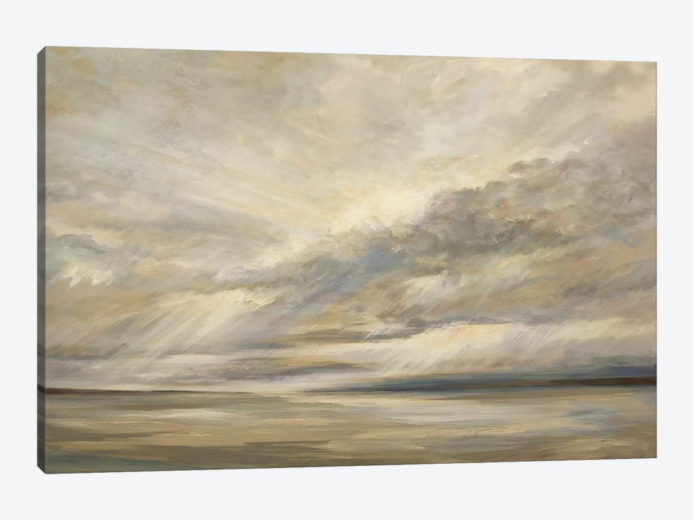 Storm On The Bay by Sheila Finch 1-piece Canvas Art Print