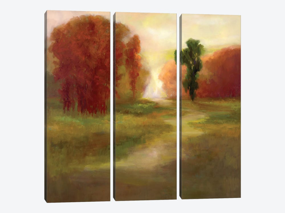 Autumn Trees by Sheila Finch 3-piece Canvas Artwork