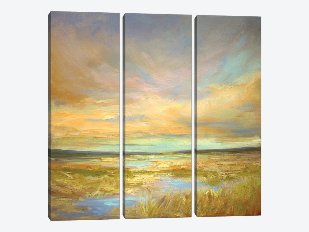 Morning Sanctuary by Sheila Finch 3-piece Canvas Art Print