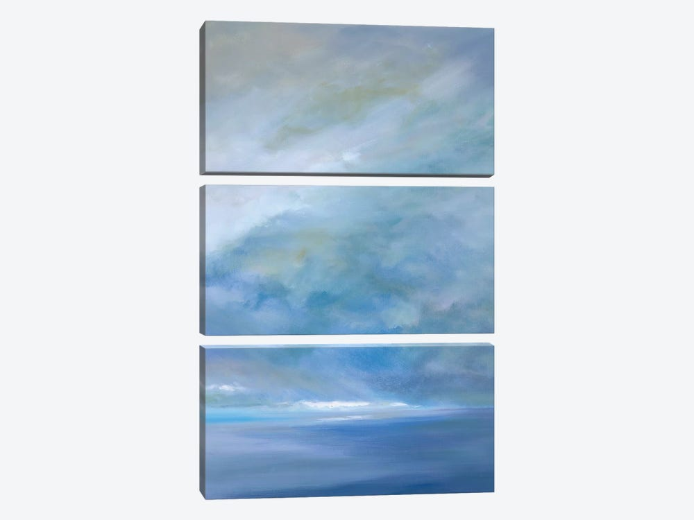 Heavenly Light III by Sheila Finch 3-piece Canvas Art