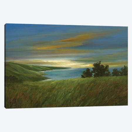 Sky At Dusk Canvas Print #SHE33} by Sheila Finch Canvas Artwork
