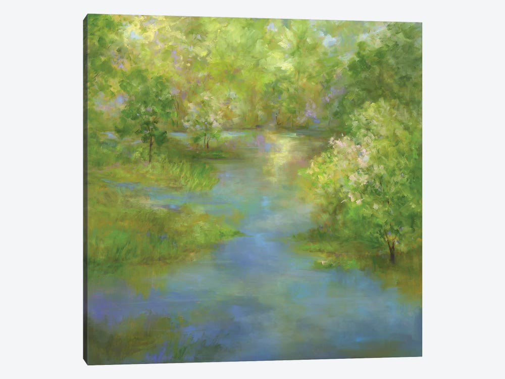 Spring Lake Reflections by Sheila Finch 1-piece Canvas Wall Art