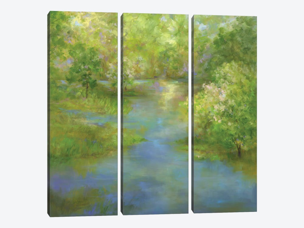 Spring Lake Reflections by Sheila Finch 3-piece Canvas Art