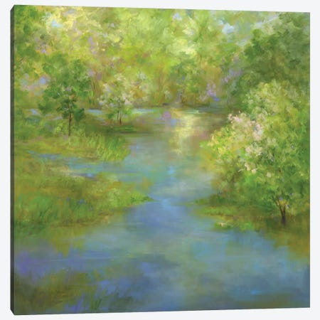Spring Lake Reflections Canvas Print #SHE34} by Sheila Finch Canvas Art Print