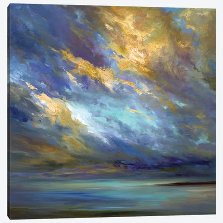 Coastal Clouds  3-Piece Canvas #SHE36} by Sheila Finch Art Print