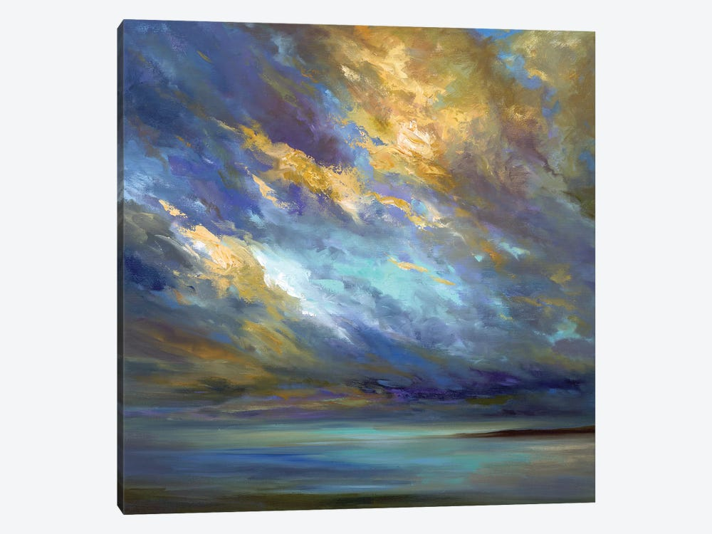 Coastal Clouds  by Sheila Finch 1-piece Canvas Art