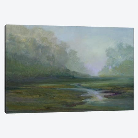 Early Morning Fog 3-Piece Canvas #SHE39} by Sheila Finch Canvas Artwork