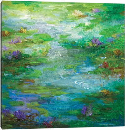 Water Lily Pond I Canvas Art Print