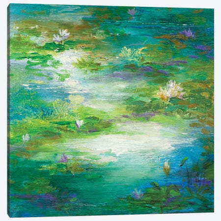 Water Lily Pond II Canvas Print #SHE42} by Sheila Finch Art Print