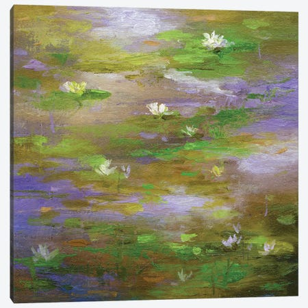 Water Lily Pond III Canvas Print #SHE43} by Sheila Finch Canvas Art Print