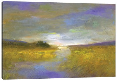 Mustard Fields at Dusk Canvas Art Print