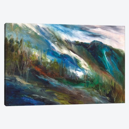 Sierra Storm Canvas Print #SHE49} by Sheila Finch Art Print