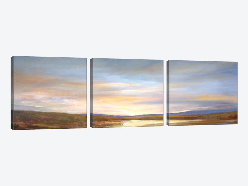 Autumn Light by Sheila Finch 3-piece Canvas Art Print