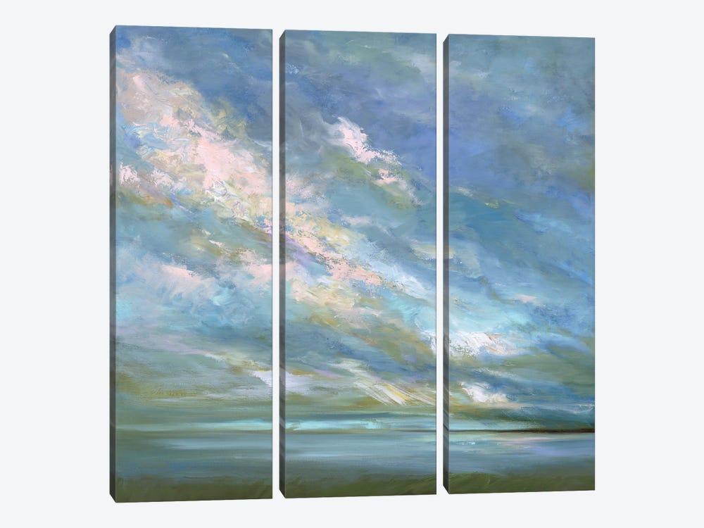 Coastal Sky III by Sheila Finch 3-piece Canvas Art Print