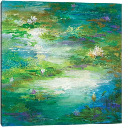 Water Lily Pond II Canvas Art Print