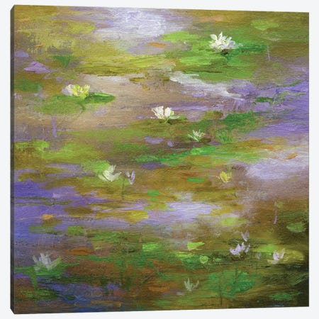 Water Lily Pond III Canvas Print #SHE58} by Sheila Finch Canvas Art
