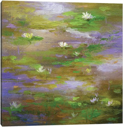 Water Lily Pond III Canvas Art Print
