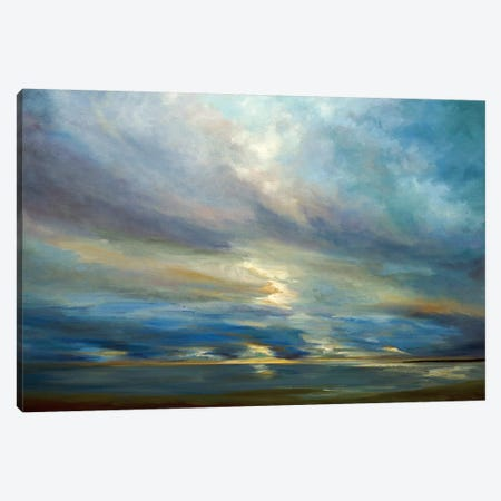 Clouds On The Bay I Canvas Print #SHE5} by Sheila Finch Canvas Wall Art