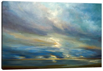 Clouds On The Bay I Canvas Art Print