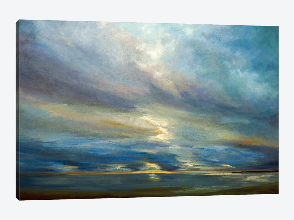 Clouds On The Bay I by Sheila Finch 1-piece Canvas Artwork