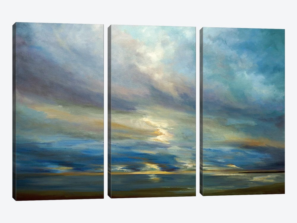 Clouds On The Bay I by Sheila Finch 3-piece Canvas Artwork