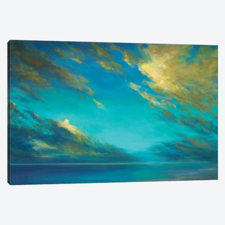 Coastal Cloudscape Canvas Print #SHE64} by Sheila Finch Canvas Art