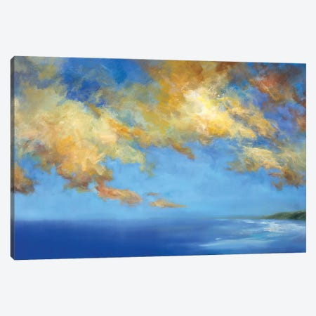 Golden Cloudscape Canvas Print #SHE65} by Sheila Finch Canvas Art