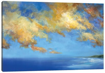 Golden Cloudscape Canvas Art Print