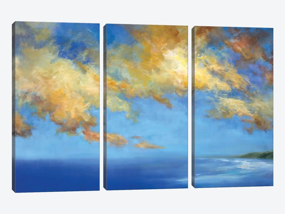 Golden Cloudscape by Sheila Finch 3-piece Canvas Art