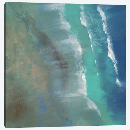 Aerial Coast II 3-Piece Canvas #SHE66} by Sheila Finch Canvas Artwork
