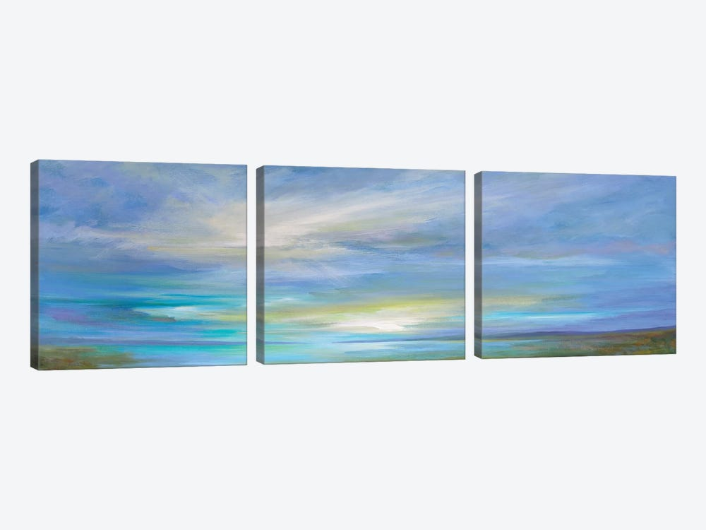 Crystal Springs by Sheila Finch 3-piece Canvas Print