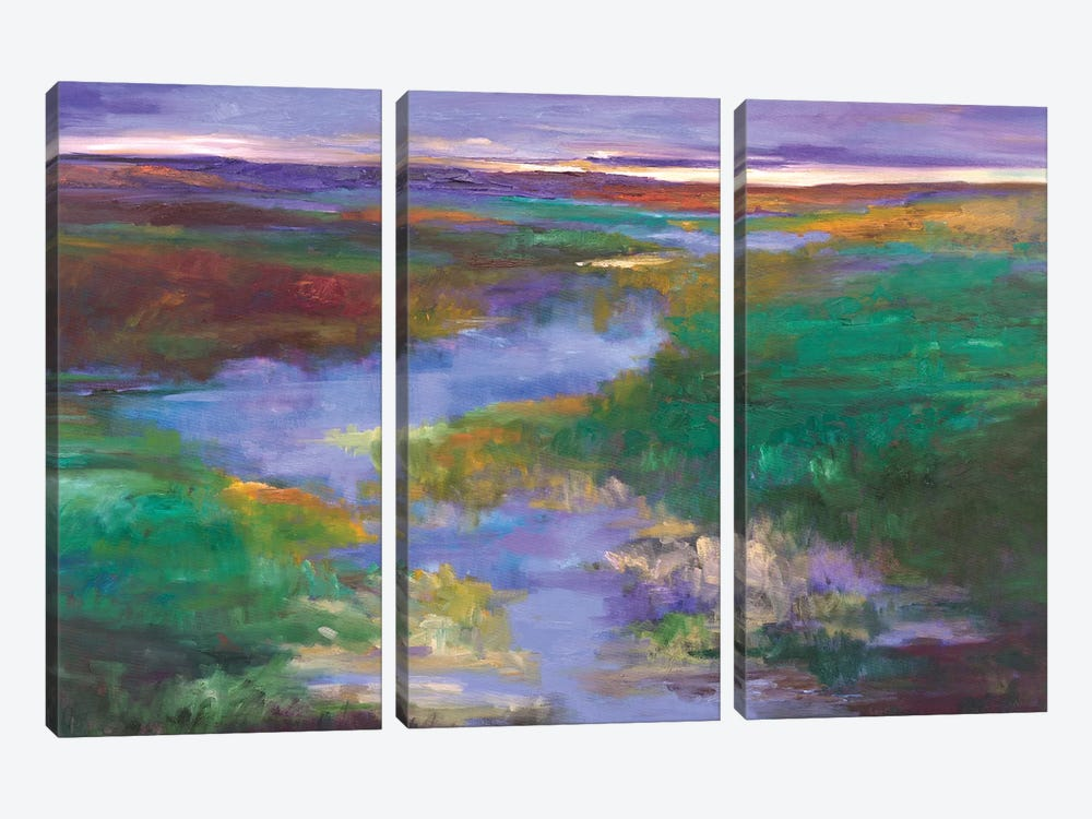 Distant Foothills by Sheila Finch 3-piece Canvas Wall Art