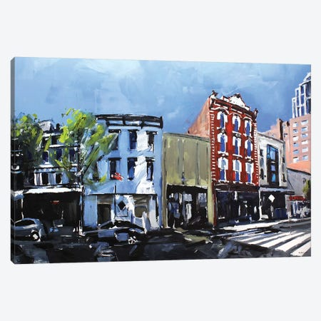 Downtown Raleigh, NC 3-Piece Canvas #SHG14} by David Shingler Art Print