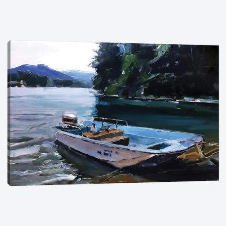 Fishing Canvas Print #SHG16} by David Shingler Art Print