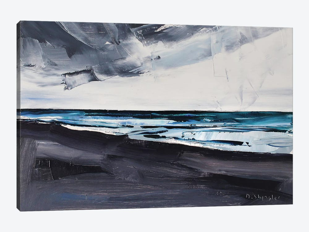 Pine Knoll Shores, Atlantic Beach, NC by David Shingler 1-piece Canvas Art