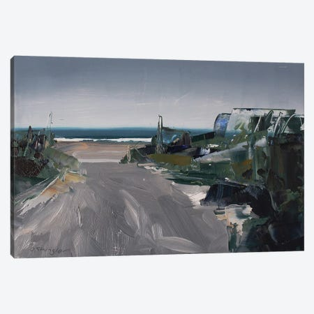 Rainy Path Canvas Print #SHG29} by David Shingler Art Print